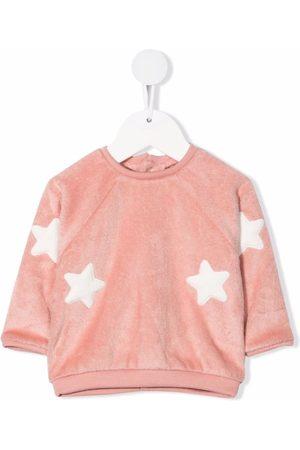 La Stupenderia Sweaters - Star-embroidered sweatshirt