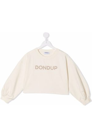 Dondup Kids Embroidered logo cotton jumper