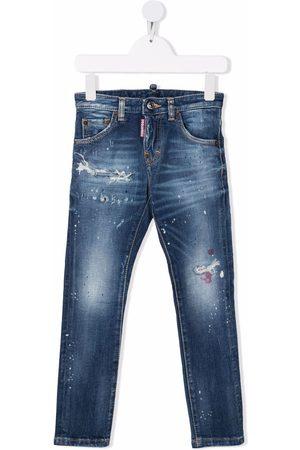 Dsquared2 Kids Jongens Jeans - Distressed denim jeans