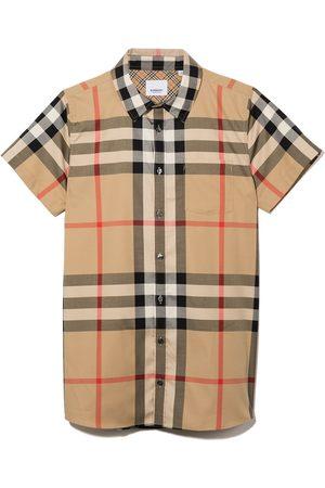 Burberry Kids Jongens Korte mouw - Vintage-check short sleeve shirt