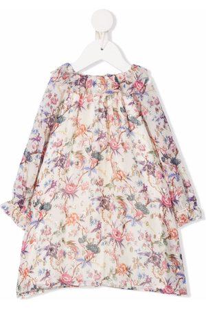 Bonpoint Meisjes Feestjurken - Floral-print silk-blend midi dress