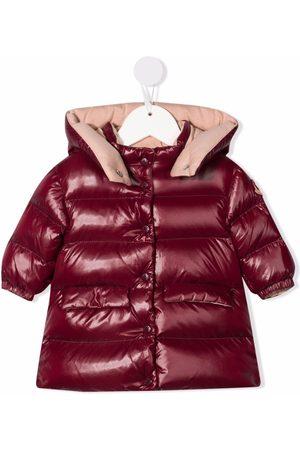 Moncler Enfant Burgundy padded coat