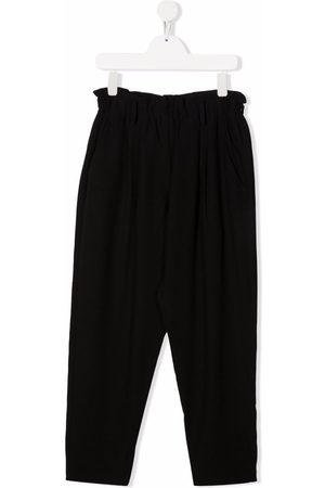 Dondup Kids TEEN ruched-detail straight trousers