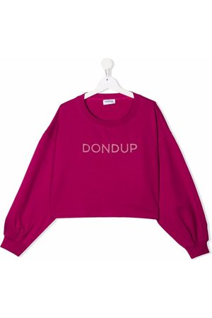 Dondup Kids Sweaters - TEEN embroidered logo sweater