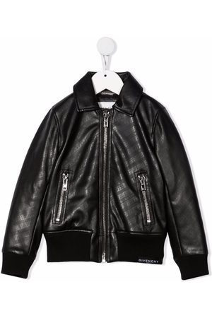Givenchy Kids Chain-link print bomber jacket