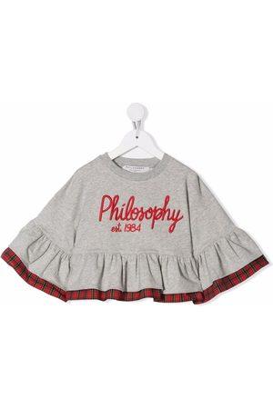 Philosophy Di Lorenzo Serafini Kids Meisjes Sweaters - Embroidered logo sweatshirt