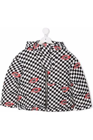 Off-White Kids OFF CHESSBOARD LEAVES PUFFER WHITE
