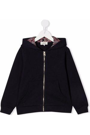 LANVIN Enfant Meisjes Hoodies - Motif print zipped hoodie