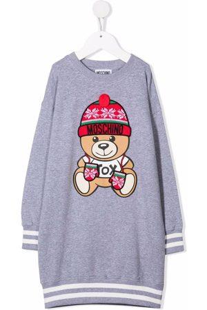 Moschino Kids Meisjes Casual jurken - Teddy bear sweatshirt dress