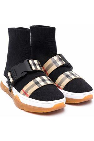 Burberry Kids Stretch-knit sock sneakers