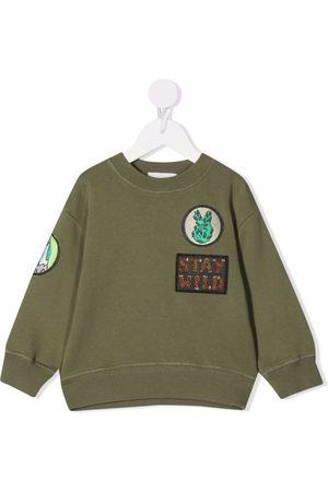 Stella McCartney Kids Patch-detail cotton sweatshirt