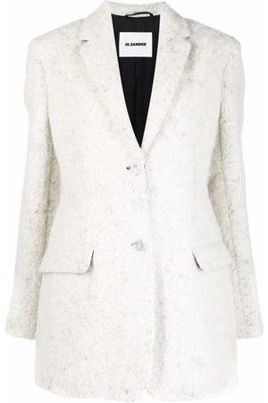 Jil Sander Dames Donsjassen - Single-breasted tailored coat