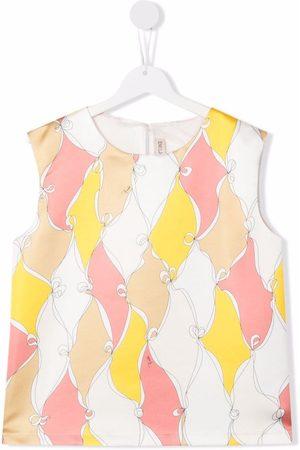 Emilio Pucci Junior Colour-block satin blouse