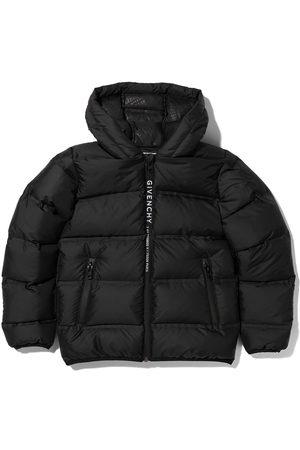 Givenchy Kids Split logo zipped puffer jacket
