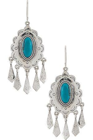 Ettika Turquoise Statement Earrings in