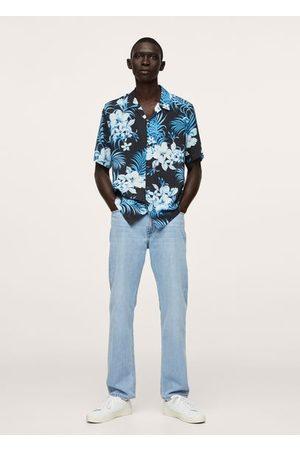 MANGO Heren Overhemden - Soepelvallend hawaïhemd