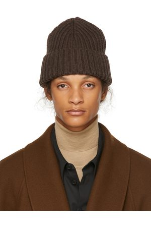 The Row Brown Cashmere Dibbo Beanie