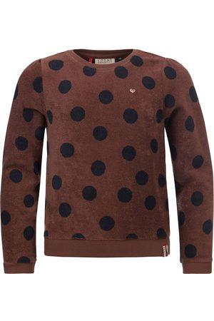 Looxs Revolution Badstof sweater cacao met big dots voor meisjes in de kleur