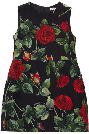 Dolce & Gabbana Meisjes Geprinte jurken - Rose Print Sleeveless Viscose Dress