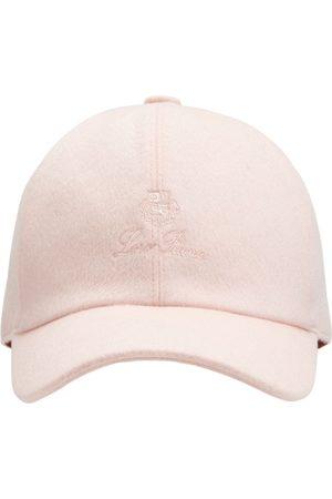 Loro Piana Logo Cashmere & Wool Baseball Hat