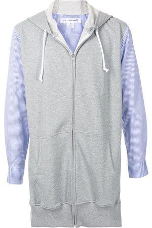 Comme Des Garçons Shirt Heren Hoodies - Panelled long-sleeve hoodie