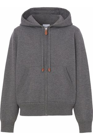 Burberry Dames Hoodies - Zipped cashmere-cotton hoodie