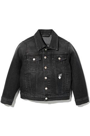 Off-White Kids Jongens Donsjassen - Arrows cotton denim jacket