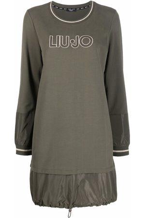 Liu Jo Dames Casual jurken - Embroidered-logo sweater dress