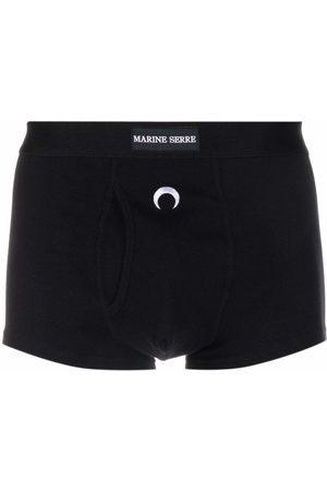 Marine Serre Logo-embroidered boxers