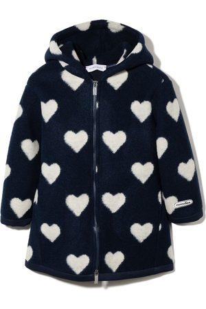 MONNALISA Heart print zipped hooded jacket