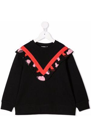 Stella McCartney Heart-print ruffled sweatshirt