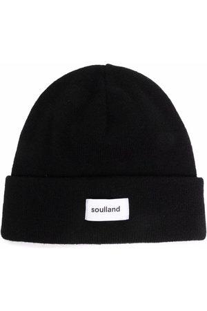 Soulland Villy logo-patch beanie