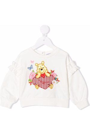 MONNALISA Sweaters - Winnie-the-Pooh embroidered sweatshirt