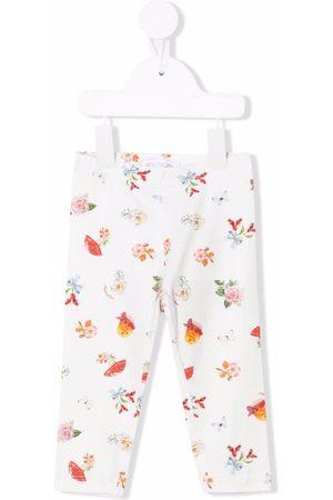 MONNALISA Baby Leggings - Graphic-print cotton leggings