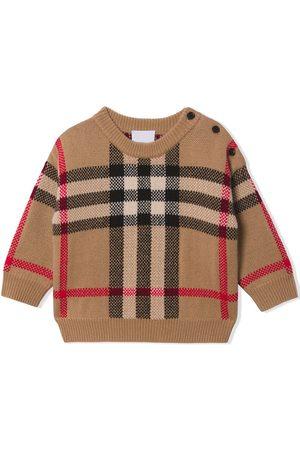 Burberry Check-jacquard jumper
