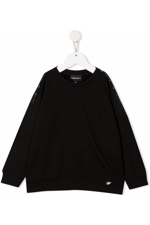 Emporio Armani Logo-tape cotton sweatshirt