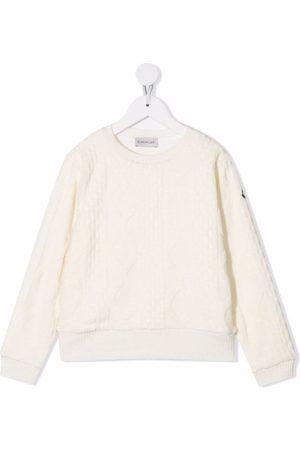 Moncler Cable-knit cotton jumper