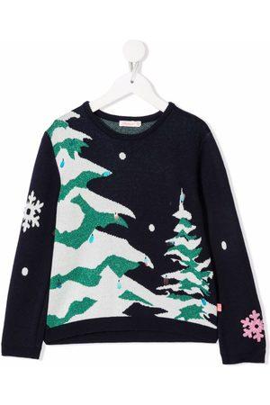 Billieblush Meisjes Truien - Winter tree-intarsia jumper