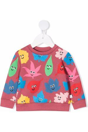 Stella McCartney Smiley Leaves fleece sweatshirt