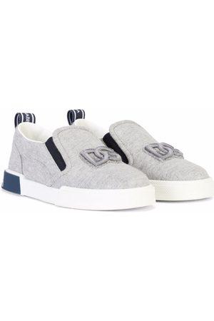 Dolce & Gabbana Slip-on cotton trainers