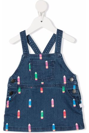 Stella McCartney Pencil-print dungaree dress