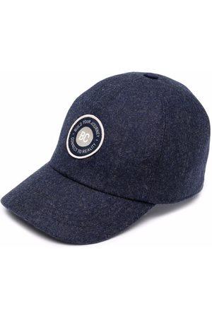 Brunello Cucinelli Kids Logo-patch virgin wool cap