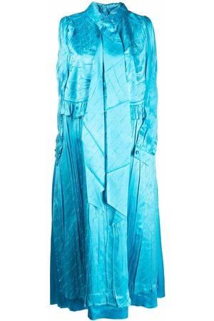 Balenciaga Crinkled-effect sleeveless dress