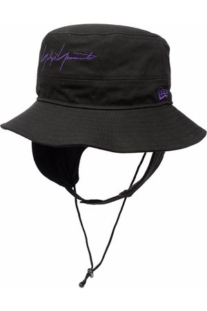 YOHJI YAMAMOTO Logo-embroidered sun hat