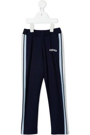 Kenzo Meisjes Joggingbroeken - Logo-print side-stripe track pants