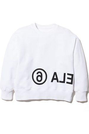 MM6 MAISON MARGIELA KIDS Meisjes Sweaters - Oversized logo print sweatshirt