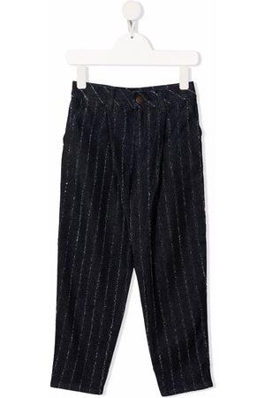 Emporio Armani Pinstripe straight-leg trousers