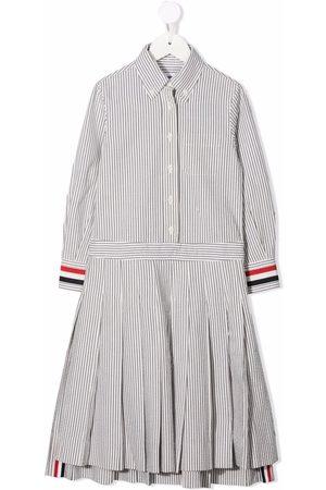 Thom Browne Meisjes Casual jurken - Pleat-detail shirtdress