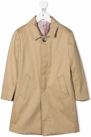 Thom Browne Bal-collar cotton overcoat