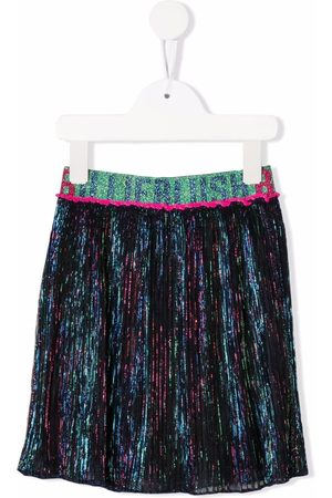 Billieblush Logo-waistband glittered skirt